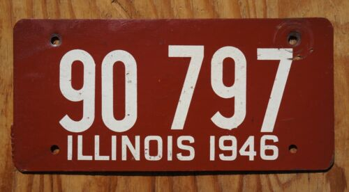 1946 Illinois Passenger License Plate