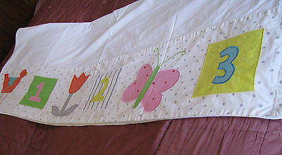 Vintage THE COMPANY STORE 100% Cotton Twin Sheet With All embroidered Fun
