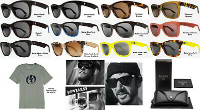 NEW Electric Detroit XL Ohm Cr39 Acetate Round Mens Sunglasses + Case (Mens Sunglasses Case)