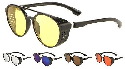 New Classic Round Steampunk Sunglasses Goggles with Color (Sunglasses With Round Lenses)