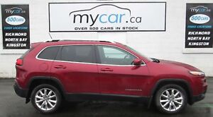 2015 Jeep Cherokee Limited LEATHER, SUNROOF, NAVIGATION