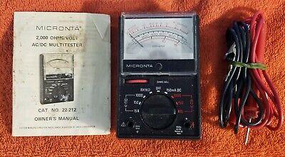 Vintage Micronta 2000 Ohmsvolt Acdc Multitester