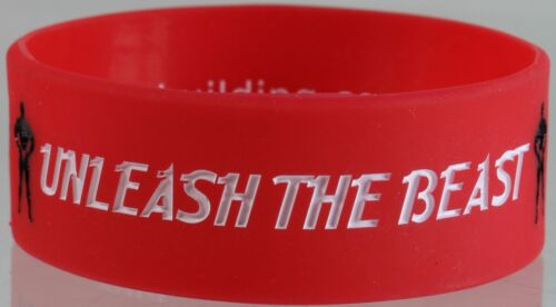 Mens Wrist Band Bodybuilding Unleash The Beast Jumbo WristBand Silicone Rubber