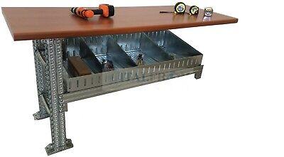 Banco de trabajo continuo con bandejas caja de herramientas bricolaje estació