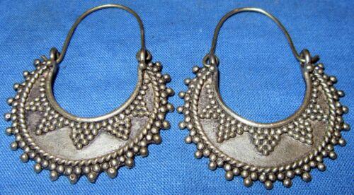 "Earrings Fashion Crescent Afghan Kuchi Tribal Alpaca Silver 2"""