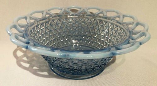 Imperial Glass KATY BLUE LACED EDGE LARGE VEGETABLE BOWL  (490V)