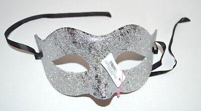 NEW Simple silver glitter Masquerade Mask Eye Gothic halloween fancy dress