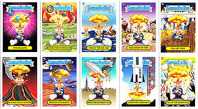 GARBAGE PAIL KIDS BNS1 2012 COMPLETE 10-CARD SET OF ADAM BOMB THROUGH HISTORY!