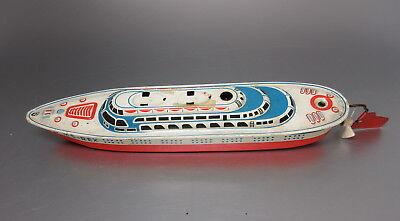 Seidel MS - REX Schiff Boot Blechspielzeug Blechschiff 25 cm Blechboot MS