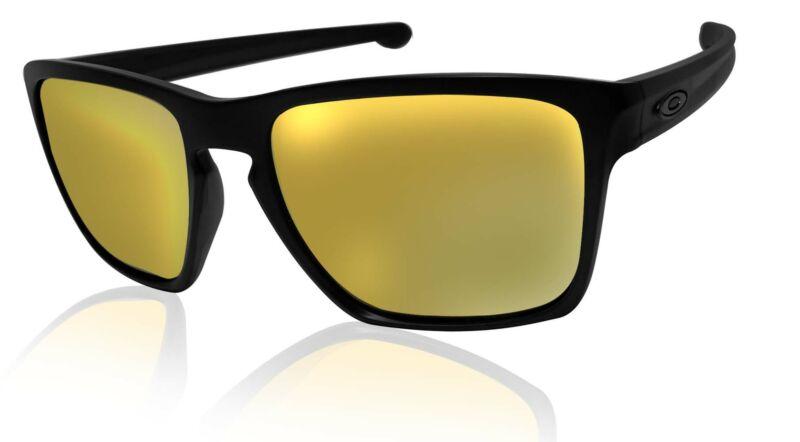 Oakley Sliver XL sunglasses matte black 24K Iridium Lens Authentic 93410757