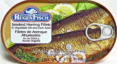 - Ruegenfisch Smoked Herring Fillets, 6.7-Ounce Tins (Pack of 16)