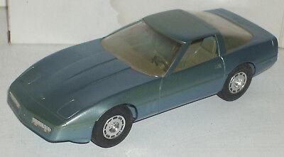 "Plastic Promo Car 1985 Chevrolet Corvette Light Blue Metalic 7"" New in Box"