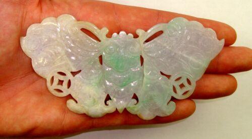 GIA Certified Natural 421.83 CT Grayish Purple & Green Translucent Jadeite Jade
