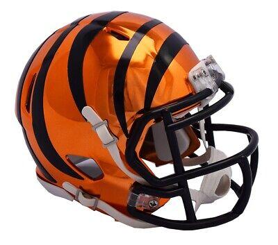 Cincinnati Bengals Riddell Speed Mini Helmet - Chrome - Bengals Helmet