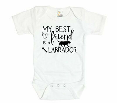 My Best Friend Is A Labrador, Labrador Bodysuit, Baby Shower Gift, Lab