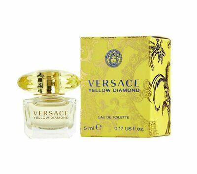 VERSACE YELLOW DIAMOND by Versace .17 oz EDT Splash Women's Perfume MINI NIB