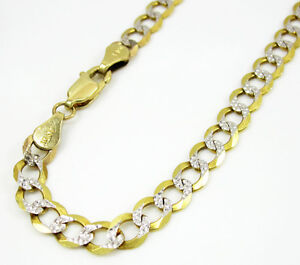 20 grams 5mm mens 10k yellow solid gold diamond cut cuban curb miami