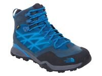 NEW The North Face Gore-Tex Trekking Women's Mid Boot's Hedgehog GTX Blue UK 5