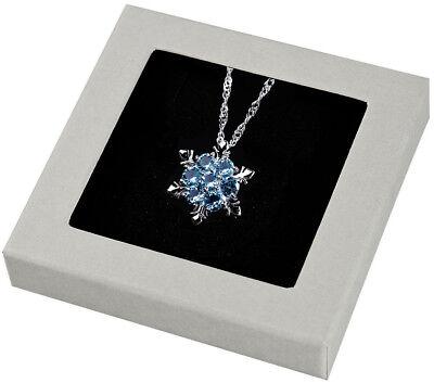 925er Echt Silber Eiskristall Frozen Elsa Halskette Aqua mit Swarovski®-Elements ()