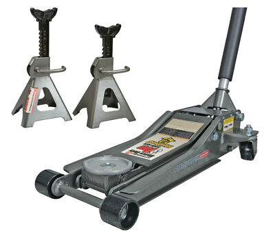3 Ton Low Profile Floor Jack and Jack Stands Set Steel Hydraulic Car Jack Lift for sale  Florence