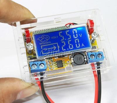 Dc-dc Adjustable Step Down Power Supply Modulevoltage Current Lcd Display Shell