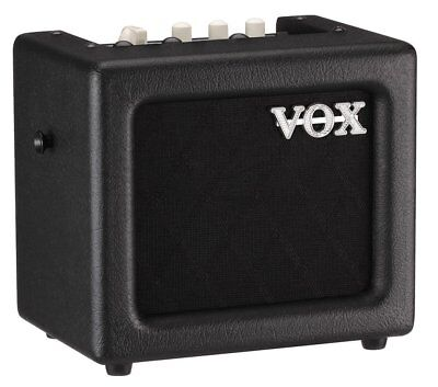 Vox 3W Mains/Battery Modelling Amp with Effects - Black Finish- MINI3-G2BK