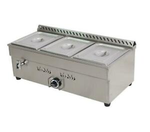Propane three pan food warmer - 1/2 size pans - super concession item - free shpping