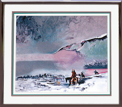"""WARSHIELD'S WINTER VISION"" Framed Beautiful Mint s/n Serigraph by Earl Biss, used for sale  Cable"