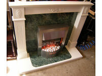 Complete Fireplace Hearth Surround With Dimplex SWINDON