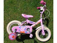 ** Kids Peppa Pig bike with stabilisers **