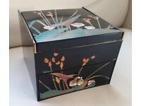 Chinese lacquer style make-up/jewellery box