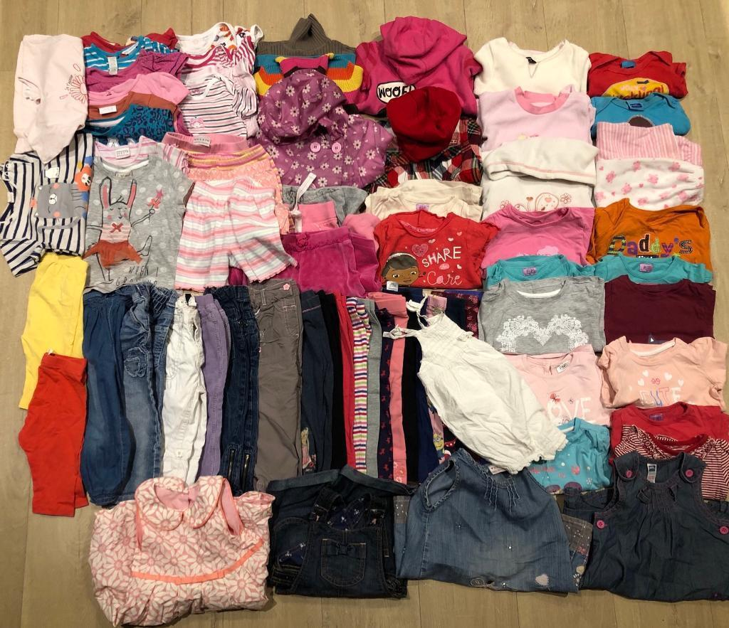 37ed87667bcf BABY GIRL CLOTHES 12-18 Months OVER 70 items