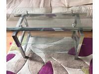 Coffee table - glass & chrome (Hackney)