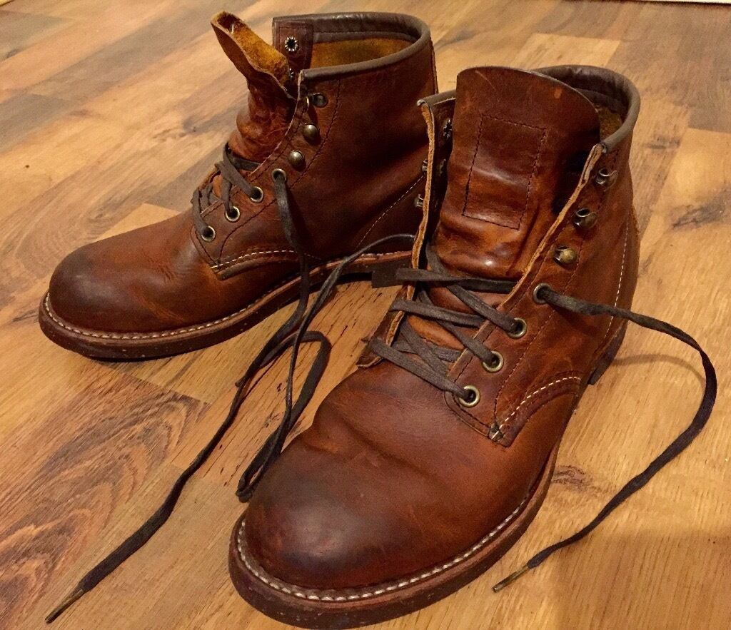 Red Wing Blacksmith Leather Boots Men Uk 6 Made In Usa