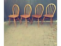 Vintage Retro Ercol Mid Century Windsor Chairs - Delivery Available