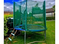 8 foot trampoline and safety net