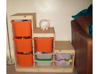 ikea trofast pine storage unit for toys clothes books as new 5 months old