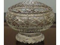 Lead Crystal Rose Bowl