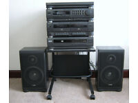 Sharp Turntable - Hifi - Record Player, CD , Tuner, 2 x Tape, 2 x Speakers & Stand