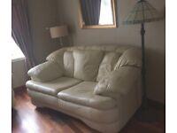 Leather sofas. Cream