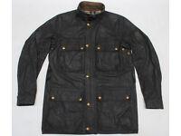 """Belstaff Wax Trialmaster Jacket Original British Made Size 38"""" Chest"""
