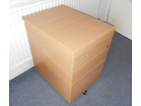 Filing Cabinet on Casters, Office Drawers