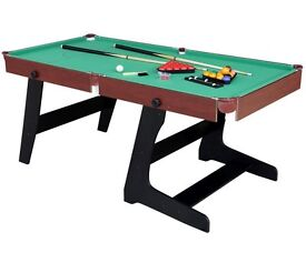 6ft fold-up snooker table with table-tennis top