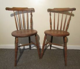 Antique chairs Stick back ercol chairs Vintage 1 need TLC dining boutique chairs DELIVERY WITHIN LE3