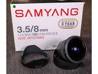 Samyang 8mm F3.5 CSII Nikon Fit and Atome 360 Precision Panoramic Rotator