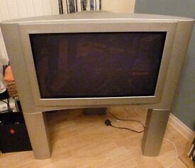 32'' JVC television with stand