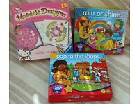 Hello Kitty Mandala Designer plus Orchard Toys games - Pop to the Shops and Rain or Shine