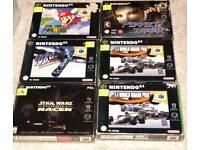 14 boxed n64 games for sale