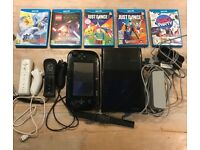 Nintendo Wii U 32 Gb with 2x Controllers + 2x Nunchuks + 7 games including Mario Kart 8