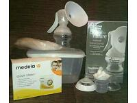 REDUCED Tommee Tippee Manual Breast Pump and Medela Microwave Sterilising Bags